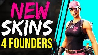 Fortnite Battle Royale NEW SKINS for FOUNDERS COMING SOON - Potential SKINS and Back Blings