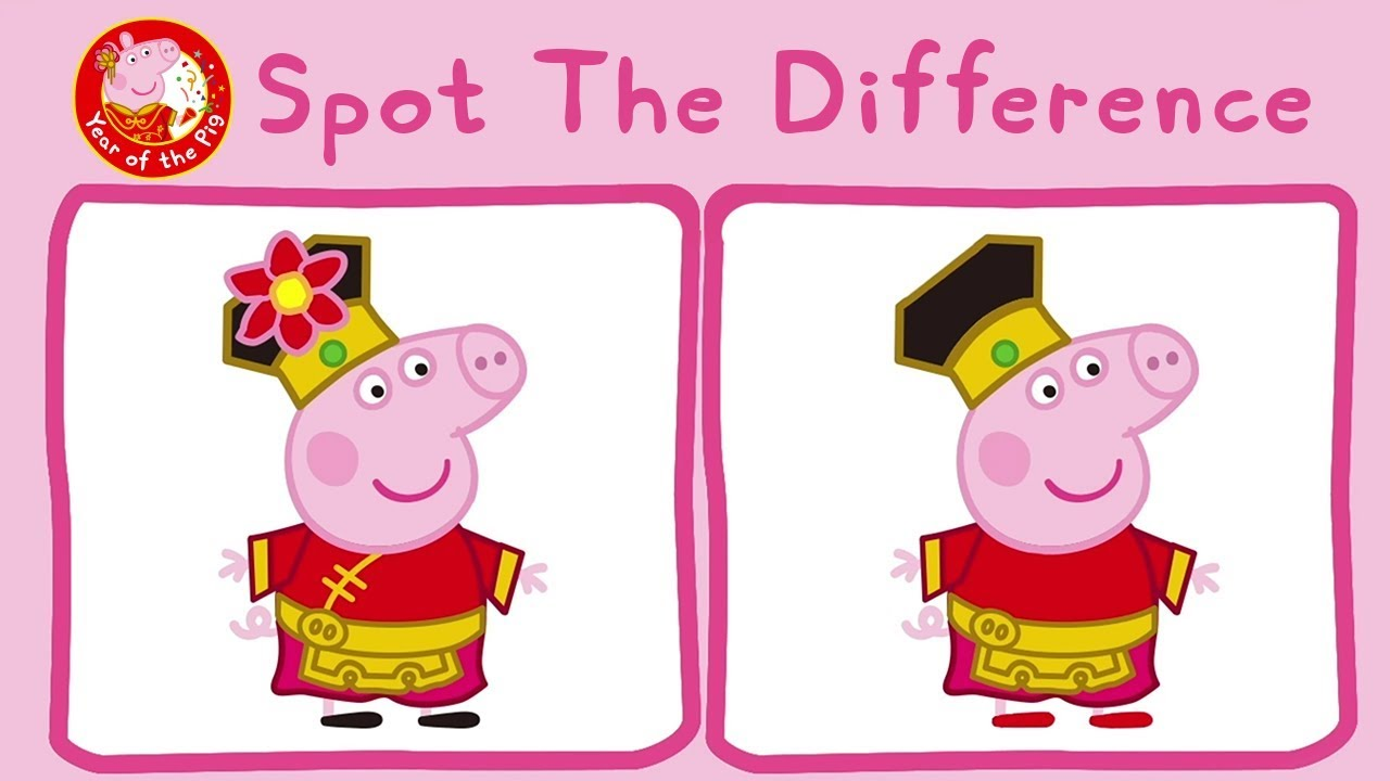 Peppa Pig Surprise Colouring For Kids With Peppa Pig Year Of The