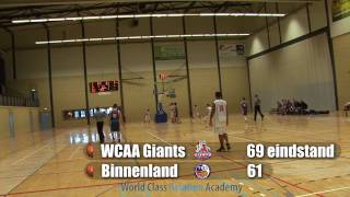 Giants U20 vs Binnenland beker