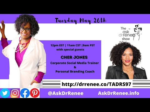 The Ask Dr Renee Show With Cher Jones Youtube