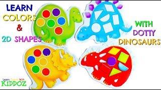 Learn Colors & 2D Shapes With Dotty Dinosaurs