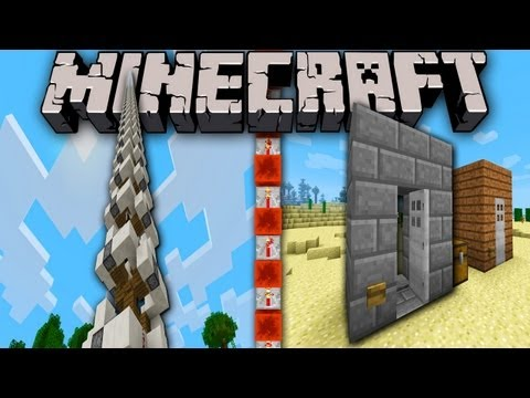 Minecraft 1.5 Pre-Release: Tornado Piston Elevator, Perfect Iron Door, Launch Date - Redstone Update