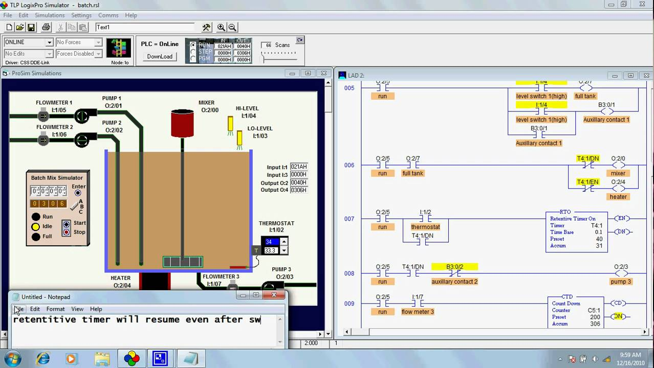 Batch Simulation With 3 Selector Switch Mode A Doovi