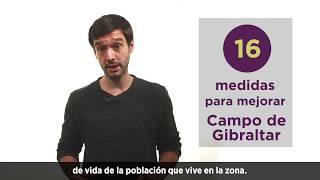 16 medidas para mejorar Campo de Gibraltar.