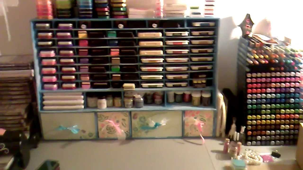 Stamp And Ink Pad Storage With Foam Board