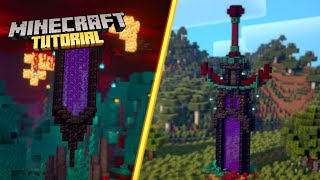 How to build a Nether Sword Portal in Minecraft | 1.16 Tutorial