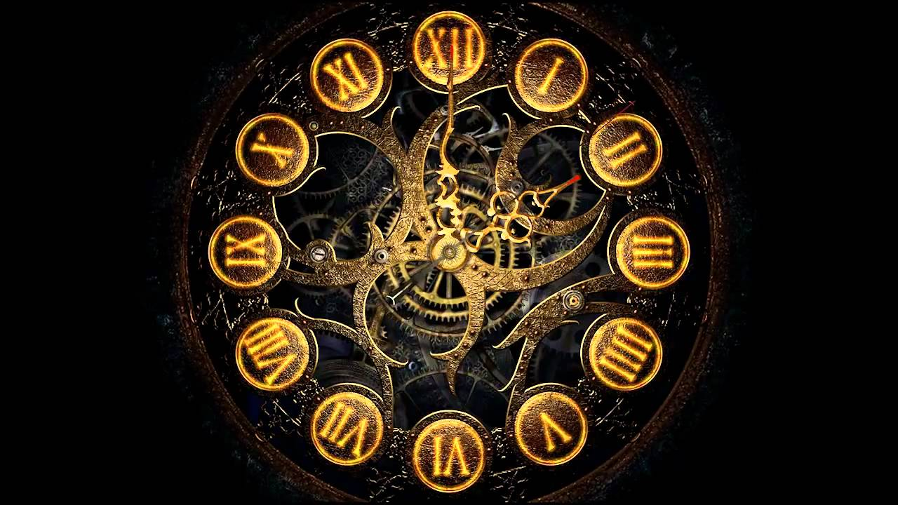 Infinity Sign Wallpaper Hd Mechanical Clock 3d Screensaver Youtube