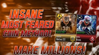 *FASTEST* WAY TO MAKE COINS WITH MOST FEARED! INSANE METHODS MAKE MILLIONS! Madden Overdrive