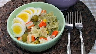 Cold Farfalle Pasta Salad - Easy Homemade Pasta Salad Recipe