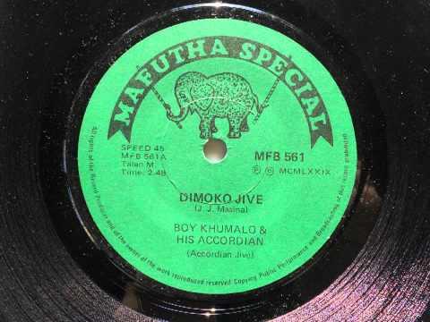 Boy Khumalo & His Accordian - Dimoko Jive (Accordian Jive) (Mafutha Special 561)