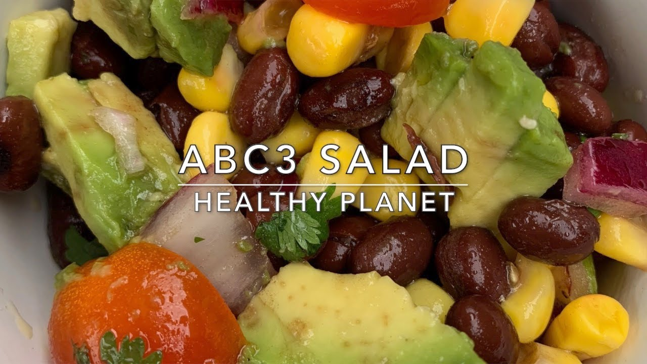 Avocado, Bean and Cilantro Vegan Salad
