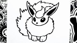 como dibujar a flareon | how to draw flareon