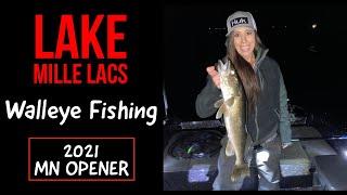 Lake Mille Lacs Walleye Fishing - MN Opener 2021