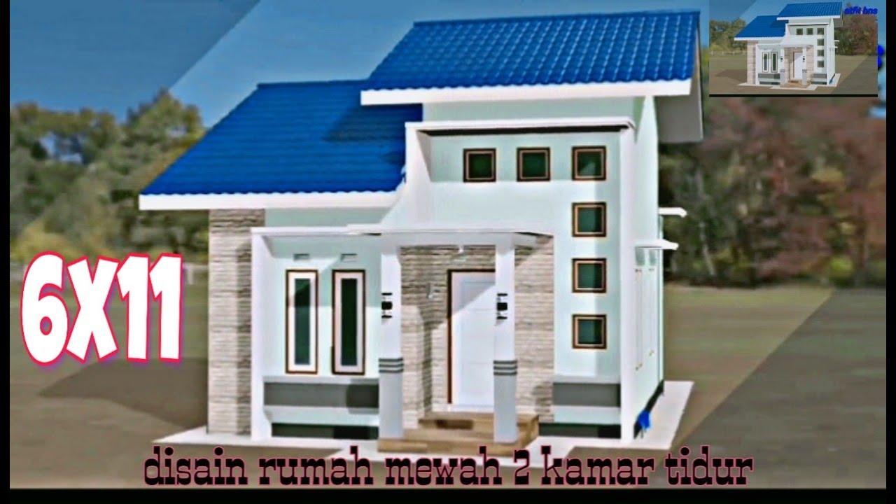 Desain Rumah 6x11 meter 2 Kamar - YouTube