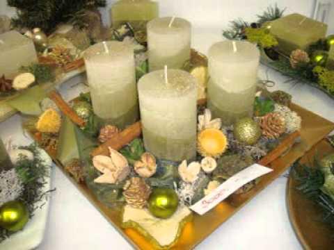 Karácsonyi asztali díszek saját kezűleg