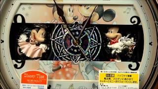 セイコー Disney (ディズニータイム) 掛け時計  ミッキー&ミニー 電波からくり時計  FW561A  Seiko Melodies In Motion Wall Clock thumbnail
