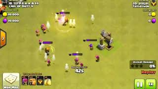 clash of clans confused defence || valkyrie trops.