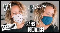 DIY MASQUE DE PROTECTION SANS COUTURE ! 2 VERSIONS