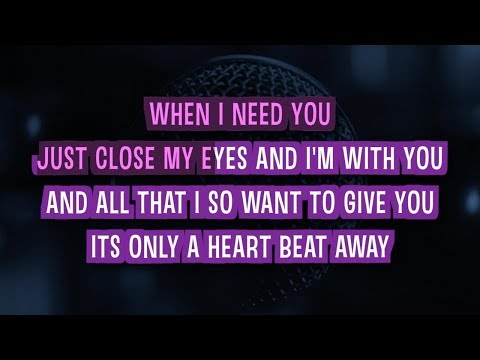 When I Need You (Karaoke) - Celine Dion