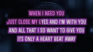 When I Need You (Karaoke Version) - Celine Dion | TracksPlanet