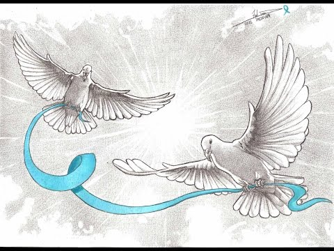 Drawing Ovarian Cancer Awareness Doves A Dredfunn Mechanical