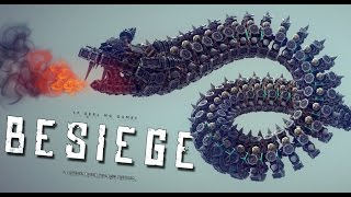 FLYING DRAGON SNAKE! | Besiege #59 | Player Creations!