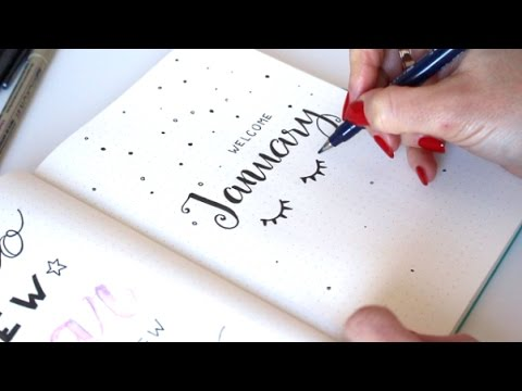 Plan With Me January 2017 Bullet Journal Apuntoc Youtube