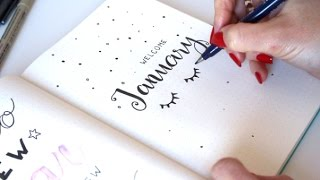 Plan With Me JANUARY 2017 ❤ Bullet Journal   ApuntoC