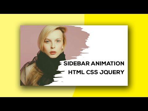 How to create side navigation bar using html css javascript