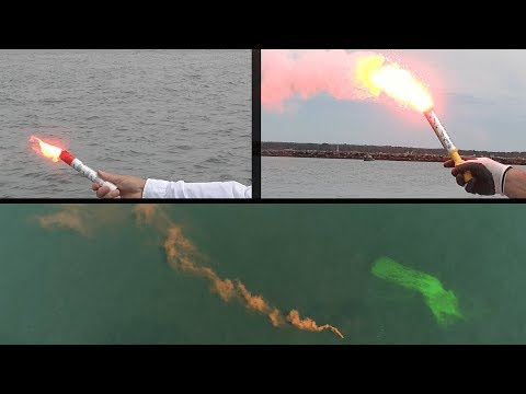 Flares, Smoke & Dyes : How To Use And Comparison: Boat Safety