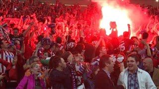 Atletico de madrid fans celebrate win in europa league final