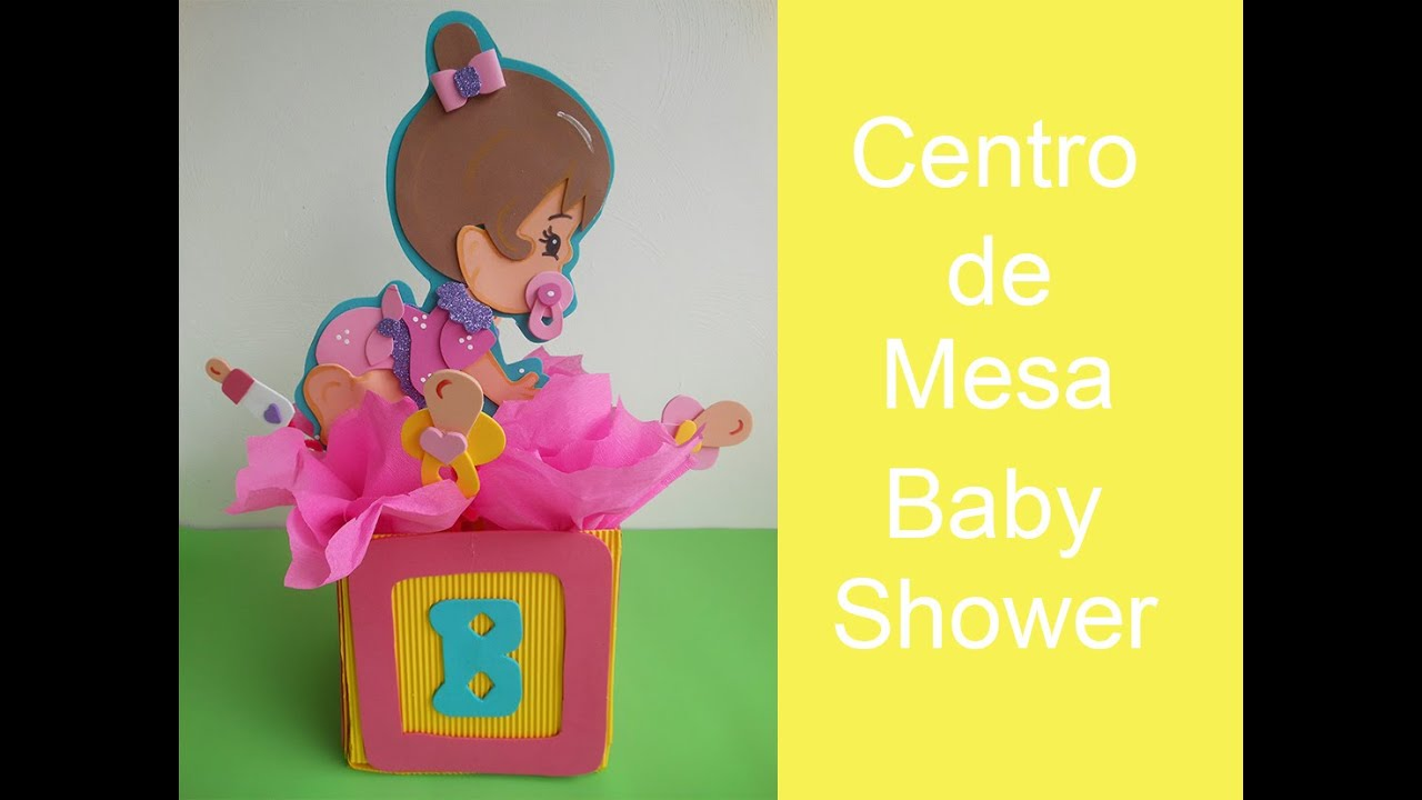 Centro de mesa para baby shower youtube - Mesa de baby shower nino ...