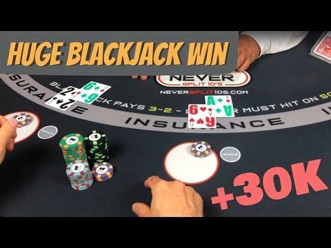 Monster Blackjack Win - 2 Hands At Once
