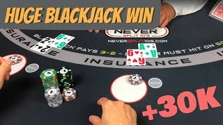 Monster Blackjack Win - 2 Hands at Once
