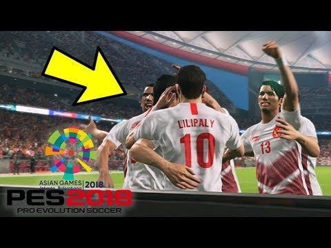 LAGA SENGIT INDONESIA VS UAE!!!-PES 2018 ASIAN GAMES (PES 2018 INDONESIA)