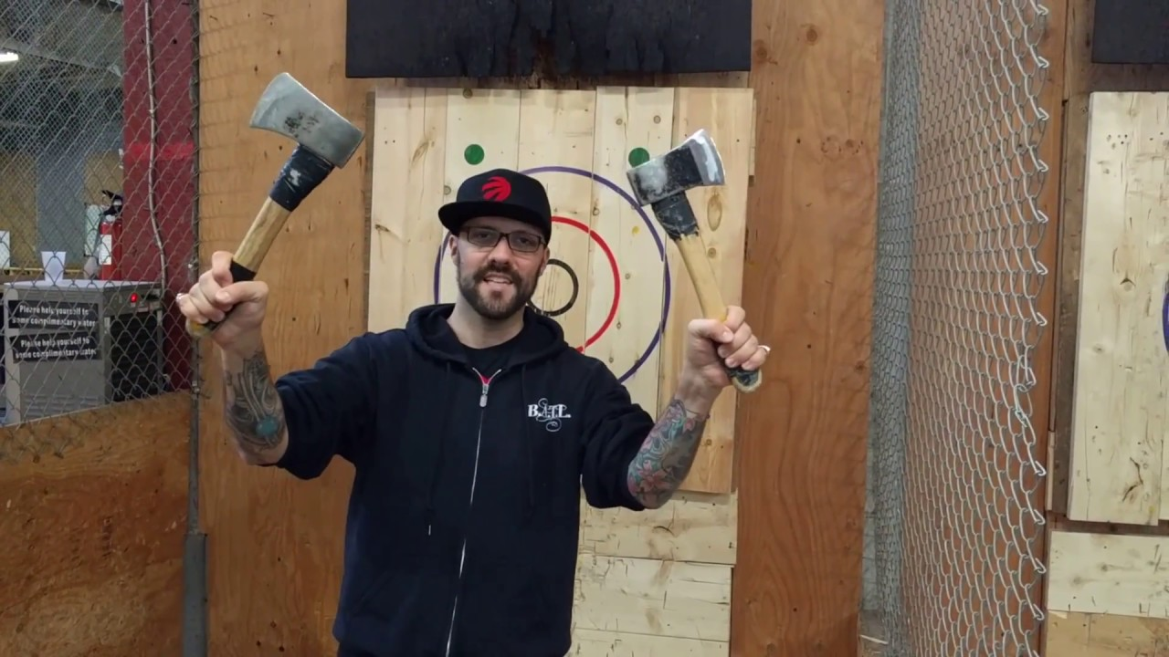 Ambidextrous Axe Throwing Skills Video Youtube