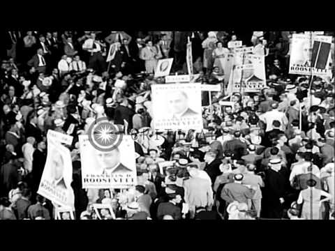 Democratic National convention of 1932 in Chicago, Illinois. Candidate Franklin D...HD Stock Footage