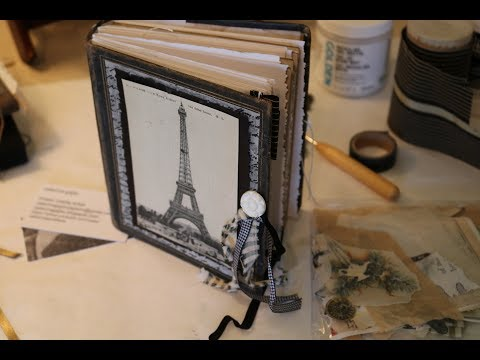 Antique Photo Album Transformed to Art Travel Journal