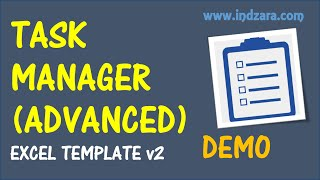 Task Manager (Advanced) Excel Template - v2 - Demo