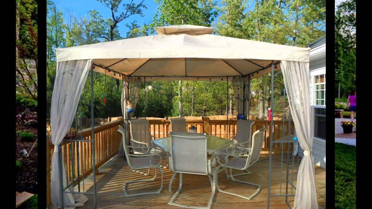 Attirant Small Patio Gazebo Ideas   YouTube