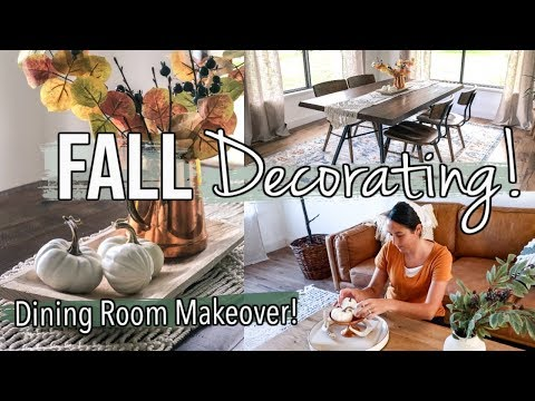 FALL DECORATE WITH ME 2019 | DINING ROOM MAKEOVER | MODERN FALL DECORATING IDEAS