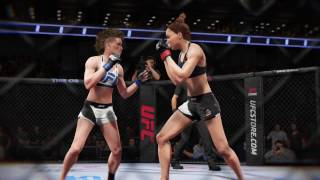 Bobbie destroying Shae's stomach in KO Mode (UFC 2: Ryona Edition)