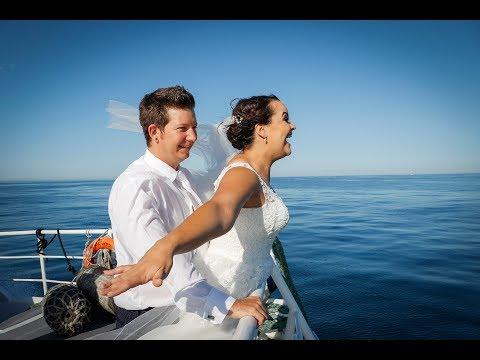 Bruid deel haar troudag op Robbeneiland