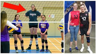 211cm Tall Volleyball Player Miranda Weber (HD)