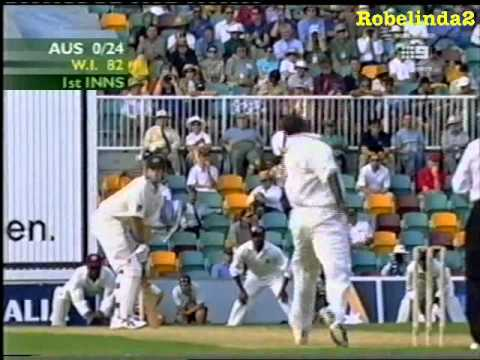 MARLON BLACK - BALL BY BALL TEST DEBUT VS AUSTRALIA 2000/01