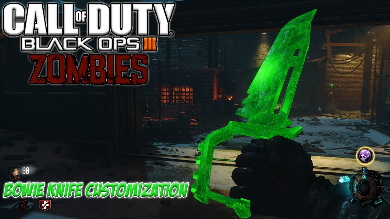 Bowie Knife Customization | COD: Black Ops 3 Zombies Gameplay ...