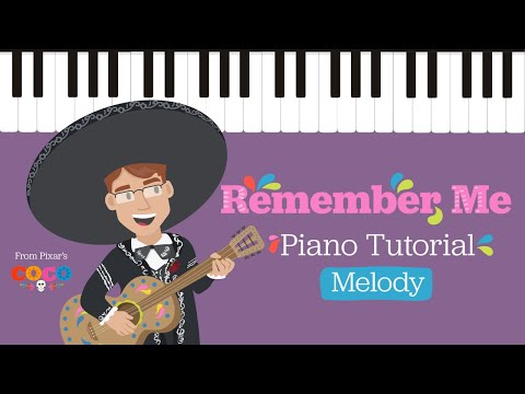 How To Play Remember Me (Coco) Melody - Easy Piano Tutorial - Hoffman Academy