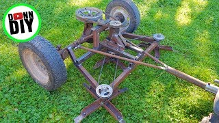 DIY Ground Driven Mower From JUNK!