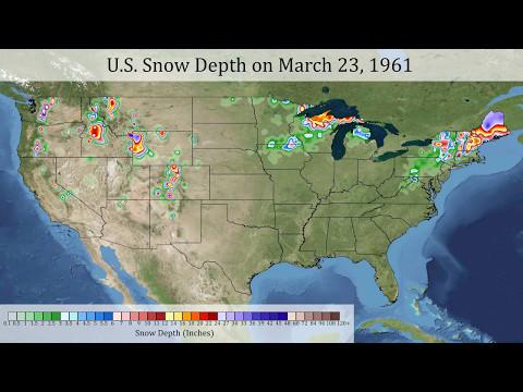 Daily U.S. Snow Depth 1950-2015 (Fast Version)