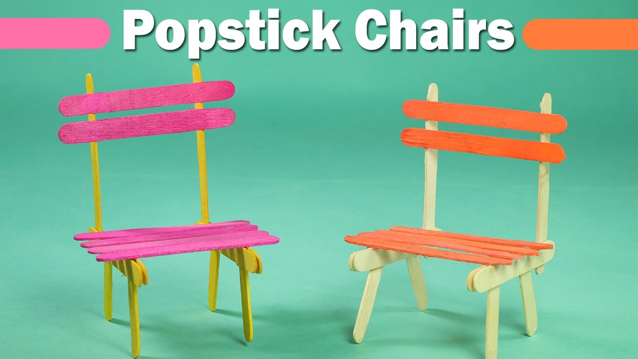 also popsicle stick crafts for kids easy icecream sticks chair youtube rh
